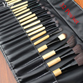 YBF Stock Clearance 32Pcs Print Logo Makeup Brushes Professional Soft Cosmetics Make Up Brush Set The Best Quality kabuki Tools