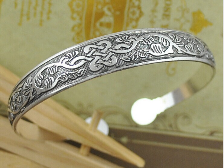 HOT Bohemian Antalya bangles,antique Silver plated carve pattern Statement, Boho Coachella, DROP SHIPPING thin style 1