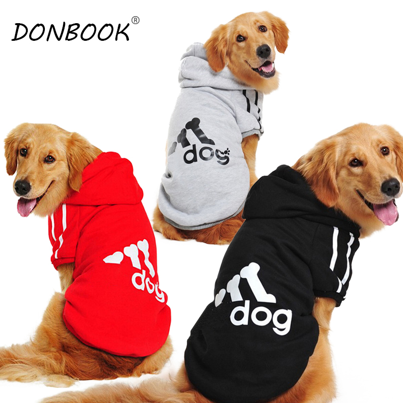Donbook Large Size Dog Clothes for Big Dogs Golden Retriever Winter Pet Hoodie Sportswear 2XL 9XL