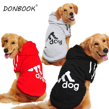 Donbook Large Size Dog Clothes for Big Dogs Golden Retriever Winter Pet Hoodie Sportswear 2XL-9XL