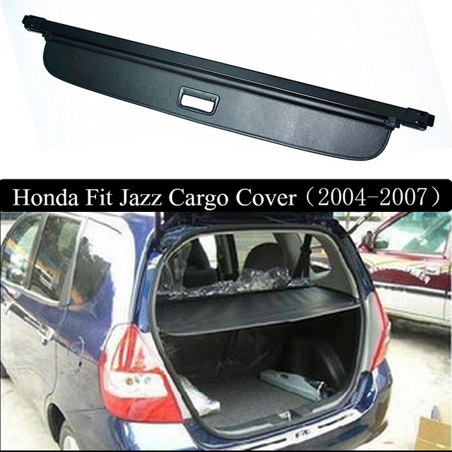 For Honda FIT JAZZ 2004 2007 Rear Cargo Cover Privacy Trunk Screen Security  Shield Shade