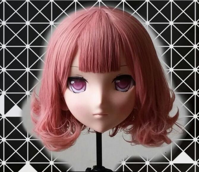 (MSM 01) Super Pretty Handmade Female Resin Crossdress Pretty Girl Lolita Mask Cosplay Kigurumi Mask Crossdresser Doll