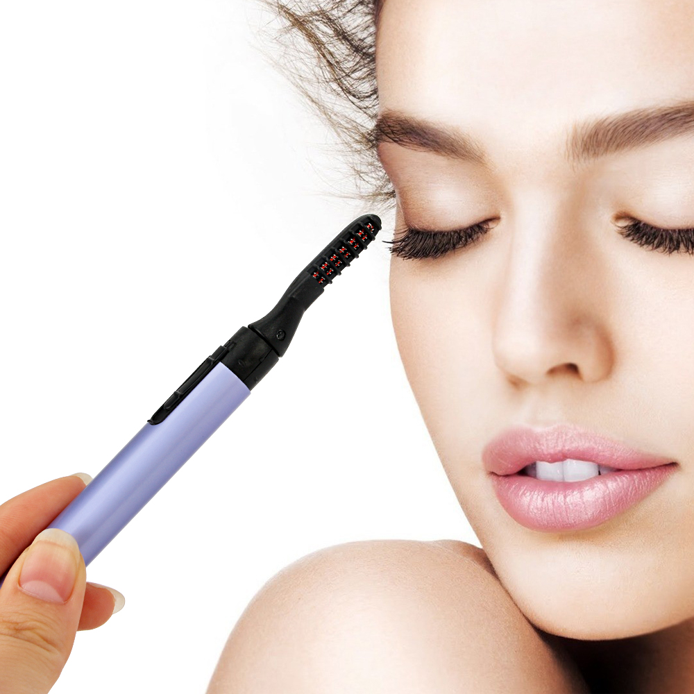 Electric Perm Eyelash Curler Pen Shape Curl Eyelashes Mascara Lash