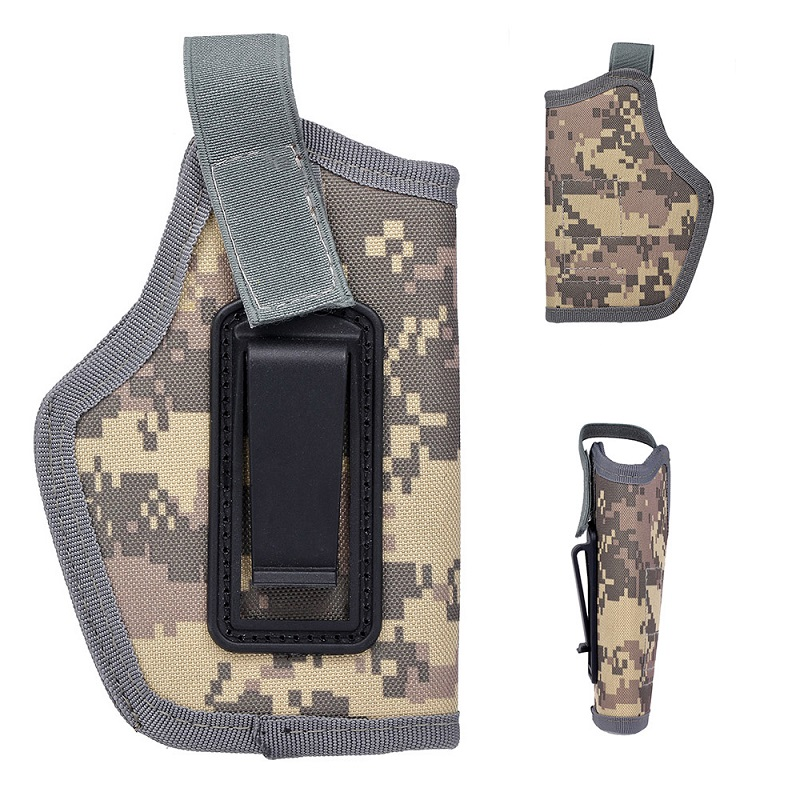 Tactical Invisible Compact Subcompact Pistol Holster Waist Case Glock Coldre Gun Bag Hunting Accessory CS Field Emergency Kit