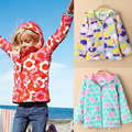 Girls Jackets With Hooded Flower Trench Outerwear For Girl Kids Coat Children Clothing Kid 3-8Y Raincoat Spring Waterproof Brand