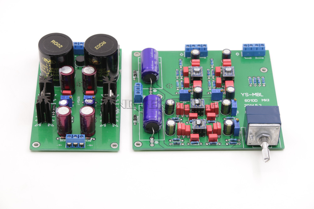 Reference Germany MBL6010D Circuit Preamplifer Assemble Board AD797 Capacitor ALPS27 Potentiometer +Power Board