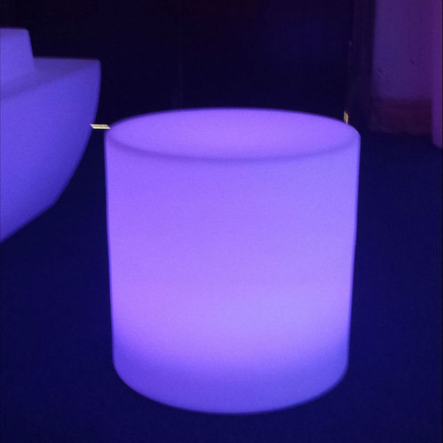 Rechargeable Cylindrical Cube/Led Seat/Led Glow Cube Led Bar Stool Grden  Outdoor Chair