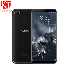New Nubia V18 Mobile Phone 4GB RAM 64GB ROM 6.01 inch Full Screen Face ID 4000mAh Snapdragon 625 Front 8MP Real 13MP Smartphone