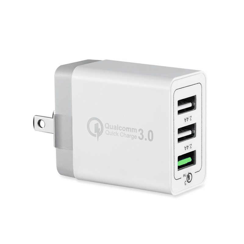 USB Charger untuk iPhone X X 8 7 Cepat Phone Charger 3 Port untuk Xiaomi A2 Dinding Charger Uni Eropa US adapter Cepat Charger Ponsel