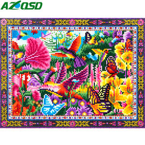 AZQSD Diamond Painting Flower Animal Art DIY