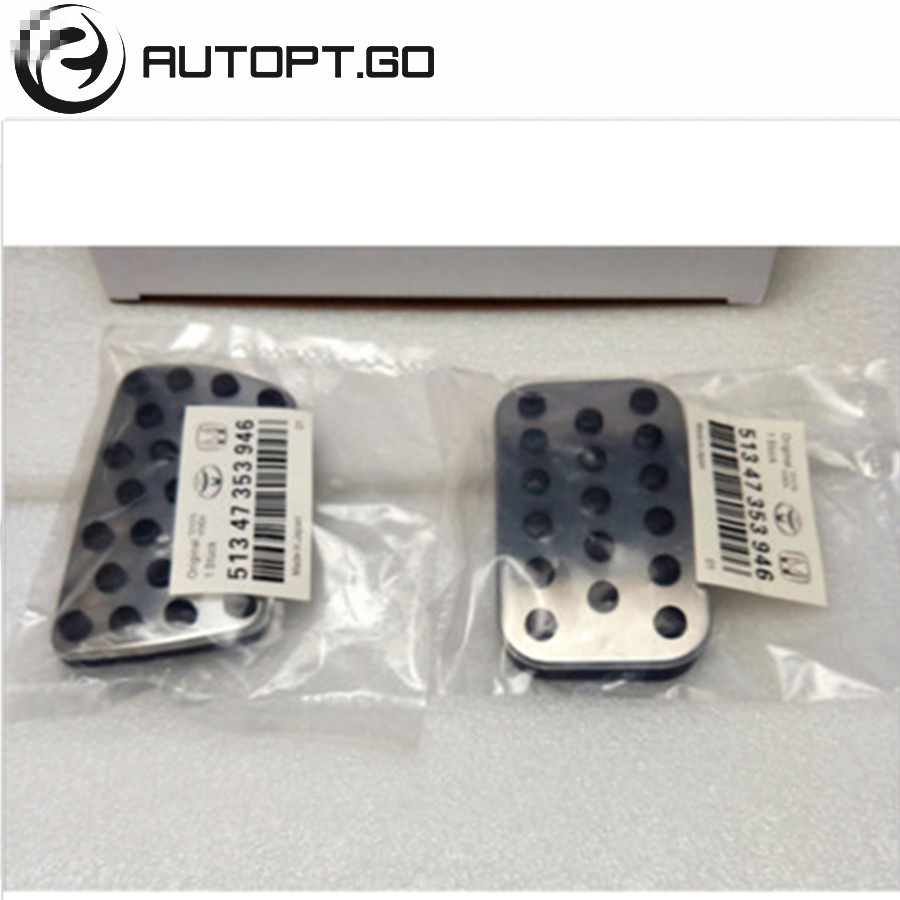 Non slip OEM Foot Pedal Pad Cover Fit Accelerator Gas Brake For Honda Civic 16 18 Accord 13 17 Crv 17 Pedals replacement Kits in Pedals from Automobiles Motorcycles