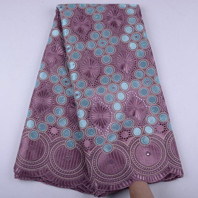 Oignon, dentelle suisse Voile, en suisse, tissu coton, africain, tissu en dentelle de coton sec nigérian, homme, 5Yards, Y1468