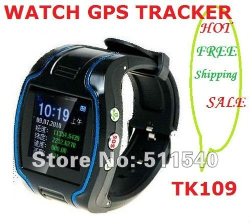 factory selling High quality Watch gps tracker 19N personal gps tracker watch cheap TK109 wacth GPS time display FREE shipping