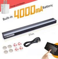 37 cm 4000mA USB lade Magnet adsorption tisch lampe  Schlafsäle  schrank  augenschutz lampe  Stufenlose Dimmen  freeshipping