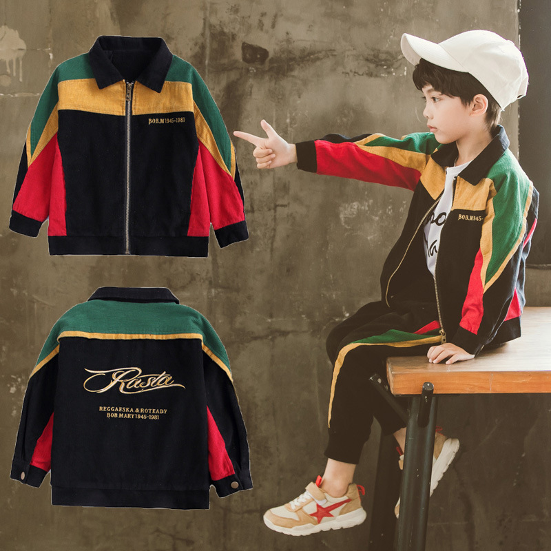 new release low price sale details for 3-14T Boys Kids clothes Sets big children matching jacket sets ...