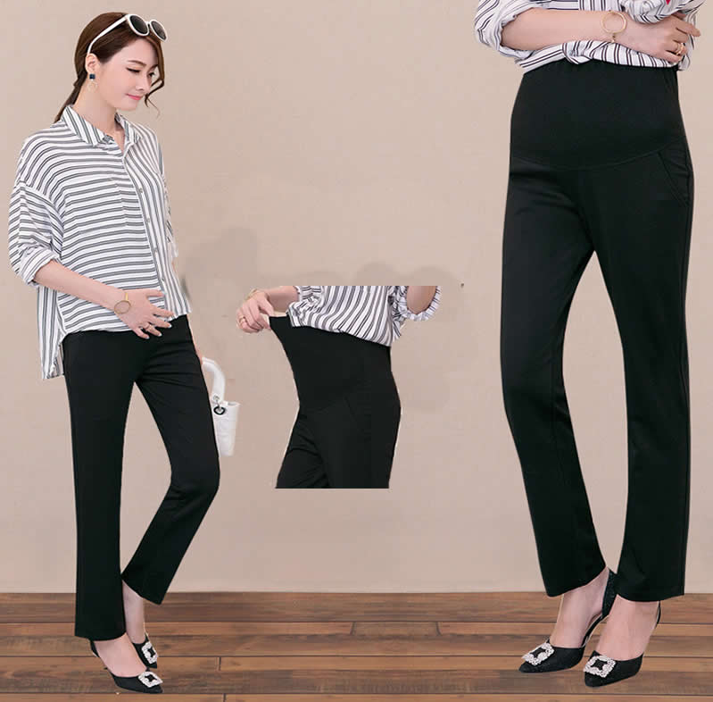 a257f2f93cd6ed Detail Feedback Questions about 2018 Maternity Pants Cotton High Waist  Career Wear Maternity Slacks Pregnancy Trousers Winter plus size Pregnancy  Pants for ...