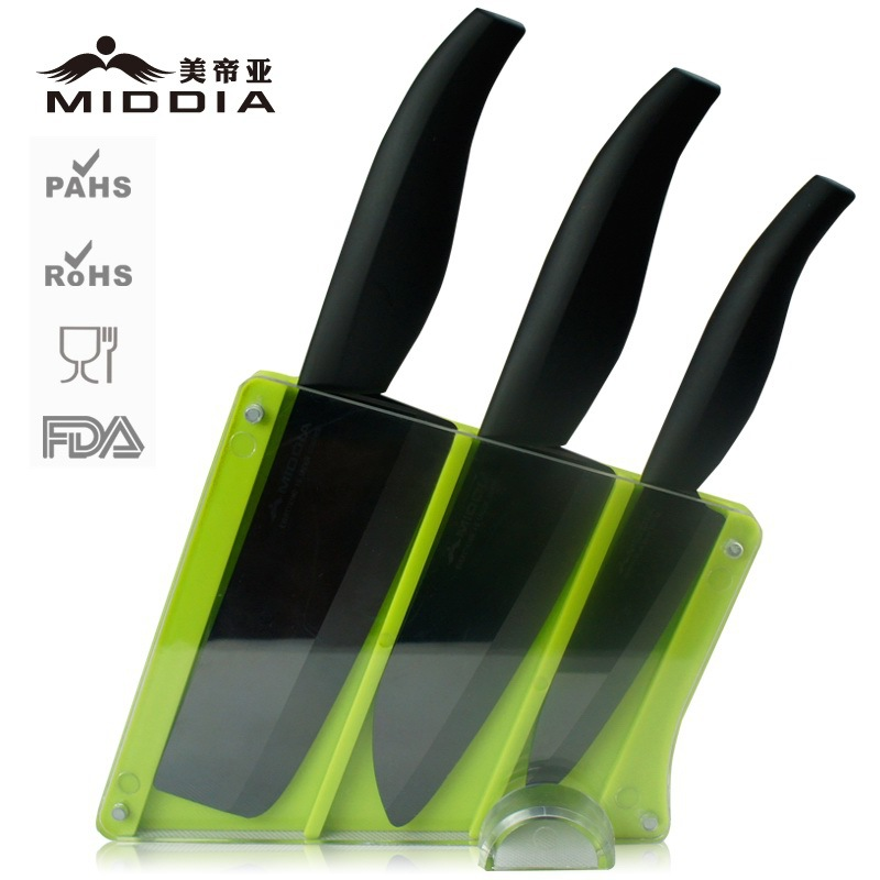 4PCS block ceramic knifes slice Mirror blade ceramic noble font b knife b font set high