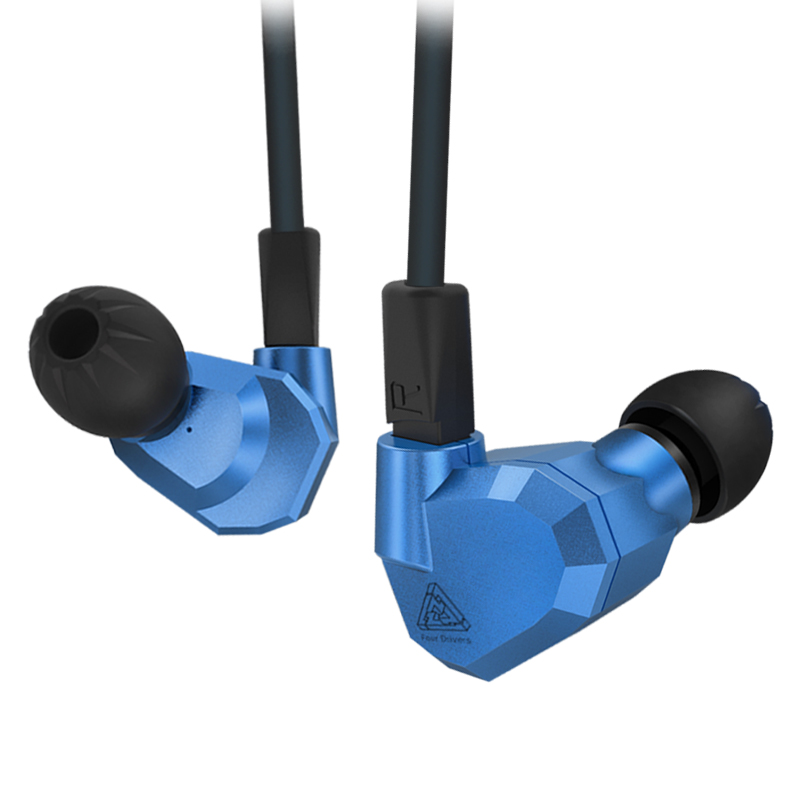KZ ZS5 Double Hybrid Dynamic and Balanced Armature Sport Earphone Four Driver In Ear Headset Noise Isolating HiFi Music Earbuds kz zs5 quad dynamic quad balanced armature octa hybrid driver in ear earphone earbud metallic blue and gray with microphone