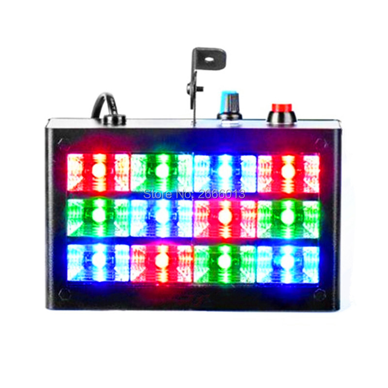 12PCS LEDs RGB dj stage Sound Active& Audio strobe light stroboscope lighting effect in home party, disco Show KTV Wedding Club