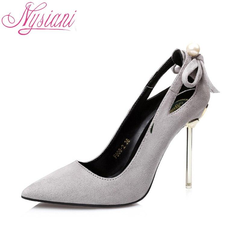 Nysiani/женские модные туфли лодочки; модельные туфли для женщин; Новинка 2018 года; сезон осень; пикантные женские туфли лодочки на тонком каблук