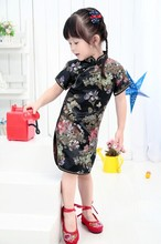 2018 New Summer Floral Baby Qipao Girls' Dresses Kid Chinese chi-pao cheongsam New Year gift Children's Clothes Robe