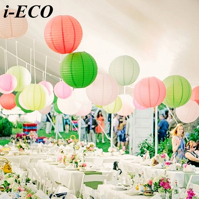 10pcs 6inch colorful chinese paper lantern paper lampion ball diy