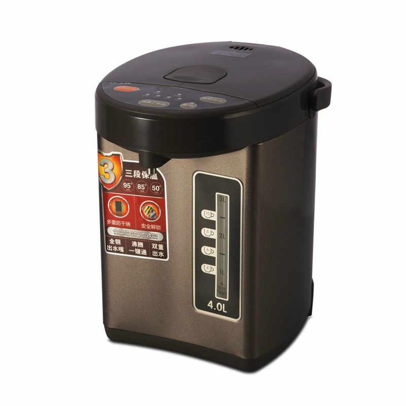 Thermos électrique bouteille d'eau isolation de la maison pleine capacité en acier inoxydable nouvelle fonction d'auto-arrêt de sécurité 4L
