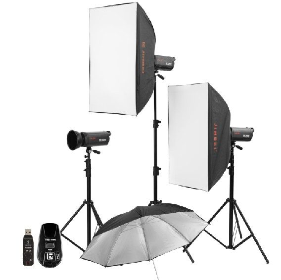 где купить 500W Professional studio flash lighting,studio flash Lighting kit with softbox,Studio Strobe light kit Jinbei studio softbox CP по лучшей цене