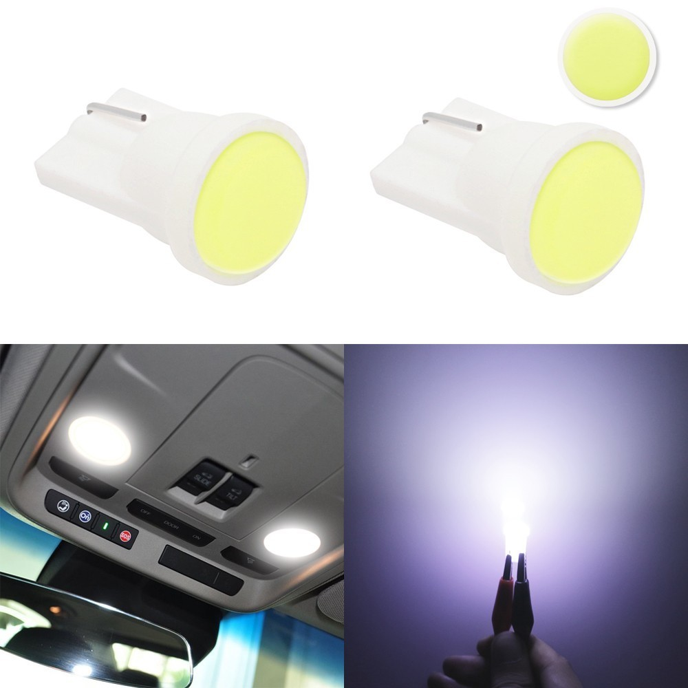 1 Piece T10 LED Lights Car Interior LED T10 COB W5W 168 Wedge Door Instrument Side Lamp Light Bulbs White Red Blue Green Pink 1pcs ceramic car interior led t10 cob w5w 168 wedge door instrument side bulb lamp car light white blue green red yellow source