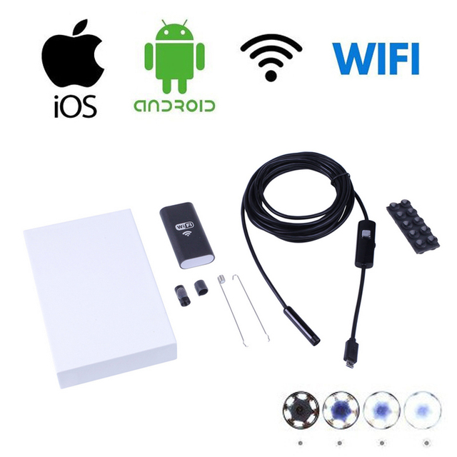 WIFI Endoscope 8.5mm Len 6 LED Waterproof Borescope Inspection Video CCTV Camera Videcam Inspection Phone Android IOS Endoscope