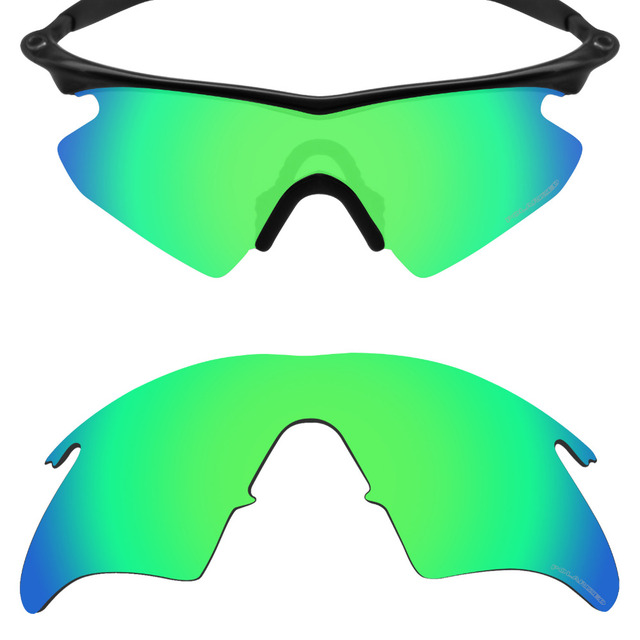 b0dae93109 Mryok+ POLARIZED Resist SeaWater Replacement Lenses for Oakley M Frame  Heater Sunglasses Emerald Green