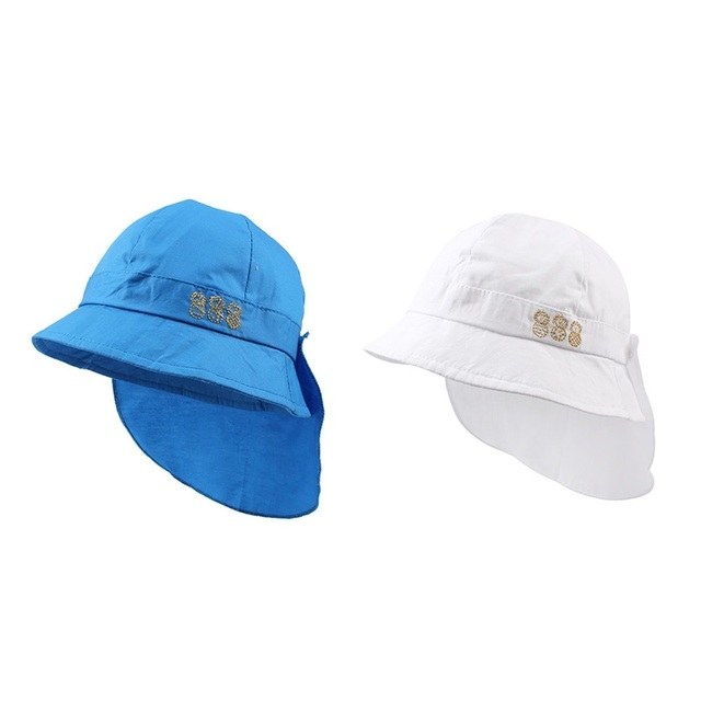 e41a7e48fda Cotton Panama Neck Protect Baby Hat For Girls Fashion Kids Summer Cap Boy  Girl Sun Cap Beach Baby Bucket Hat Baby Boy Clothing
