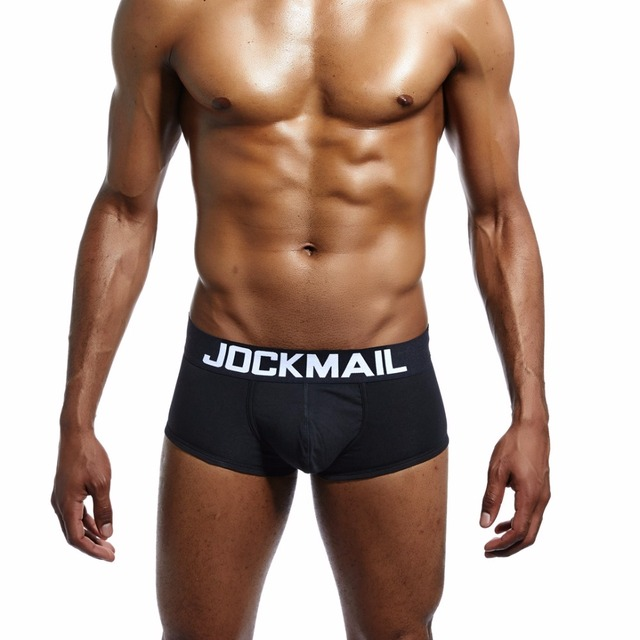 JOCKMAIL Brand Classic Basic Solid Quality Cotton Men's Underwear Boxer Shorts Mens Trunks Sexy panties Gay Sleepwear Underpants
