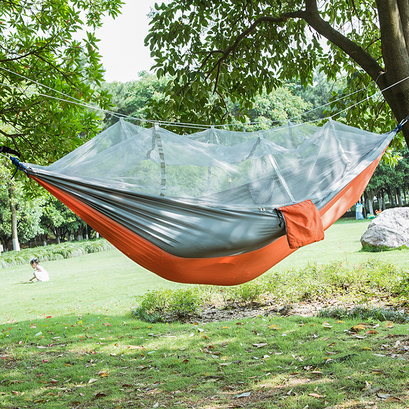 Fashion Parachute Fabric Hammock double Person Portable Mosquito Net Hammock Outdoor furniture Camping travel garden swing hamak baby nice одеяло стеганное божья коровка файбер 300 105х140 baby nice красный