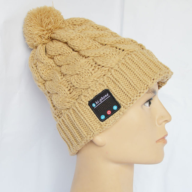 Comercio al por mayor de invierno sombreros de la gorrita tejida sombreros con auricular con el altavoz bluetooth auriculares auriculares inalámbricos.