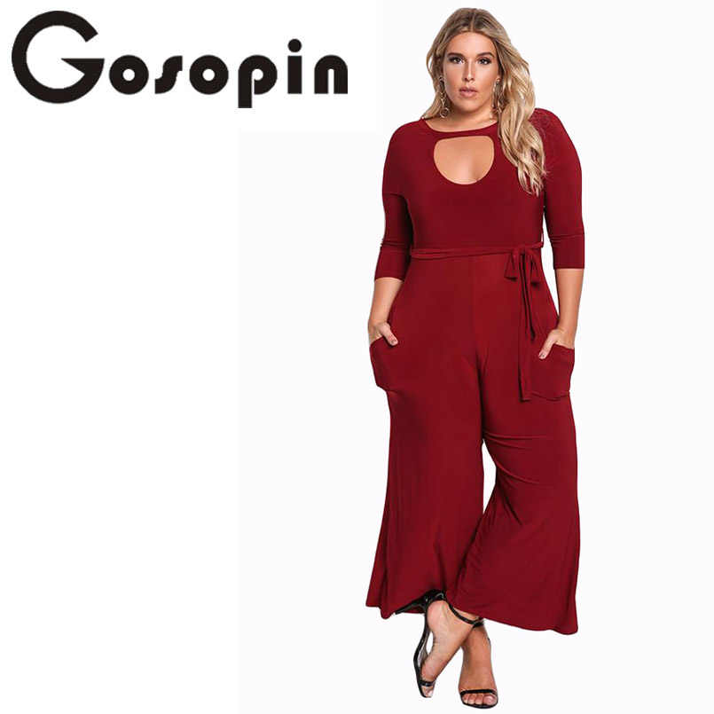 4a053cc3311 Detail Feedback Questions about Gosopin Plus Size Rompers Women Jumpsuit  Elegant Long Pants Sexy White Jumpsuits Ladies Office Clothes Club Wear  Winter ...