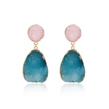 1Pair Bohemia Resin Stone Dangle Drop Earrings Women Jewelry Gift Hand