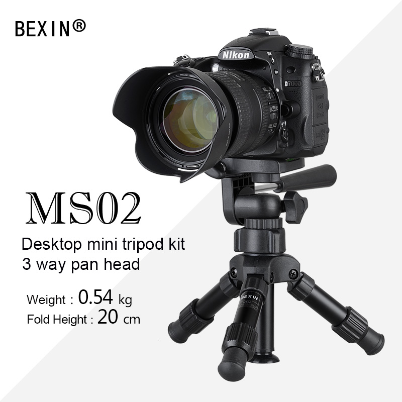 Aluminum alloy professional portable with 3-way ball head mini tripod small tripod panoramic ball head for dslr camera mefoto a0320q00 aluminum alloy mini camera tripod portable desktop tripod stand support steady hold camera with tripod head
