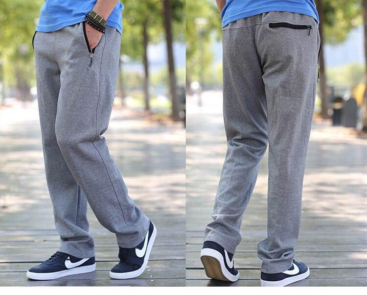 2018 NEW Men Big size trousers with XL close shut fat oversize feet 6 feet pants pants men mens black 7XL 8XL
