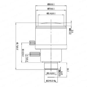 Image 5 - عدسة 8 ميجابيكسل M12 بعدسة فاريفوكال 4K لـ IMX179/317/377/477 أكشن/كاميرات رياضية 1/1.8 بوصة 3.6 11 مللي متر تركيز يدوي وتكبير