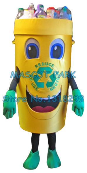 Recycle can mascot costume for adult trash can waste ash bin garbage can theme anime cosply costumes carnival fancy dress 2854