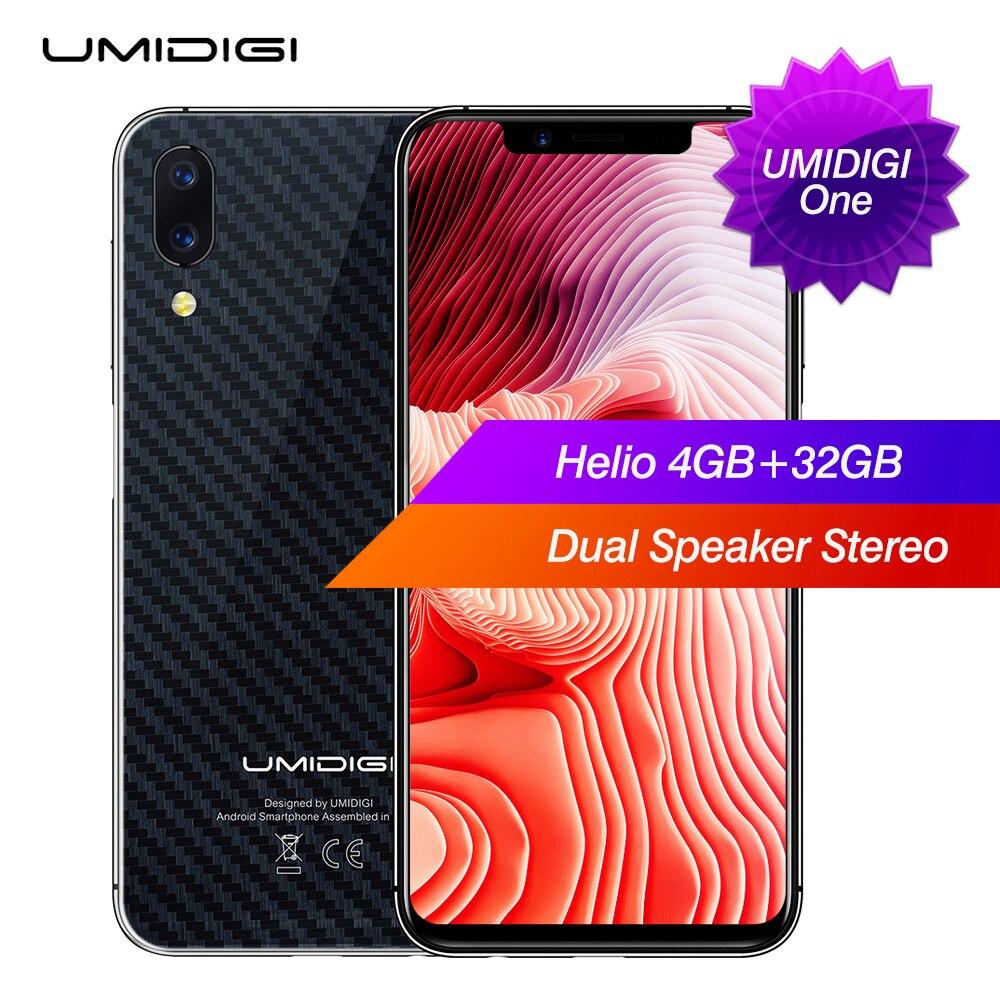 Umidigi один фаблет 4G 5,86 дюймов Android 8,1 MTK6763 Восьмиядерный 4G B Оперативная память 32 ГБ Встроенная память двойной Камера 16.0MP 3550 мАч отпечатков паль...