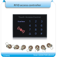 Free Shipping Newest K15A Acrylic Waterproof Panel Touch Keyboard Password RFID Proximity Entry Door Lock Access