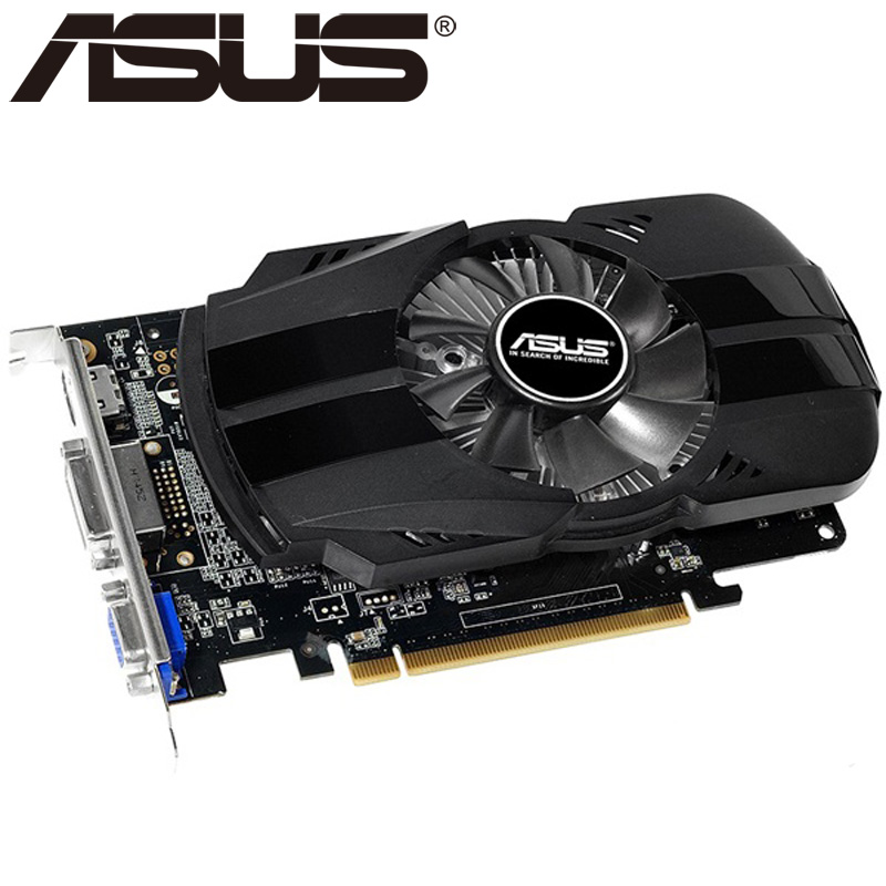 ASUS Video Card Original GTX 750Ti 2GB 128Bit GDDR5 Graphics Cards for nVIDIA Geforce GTX 750 Ti Used VGA Cards 650 760 1050