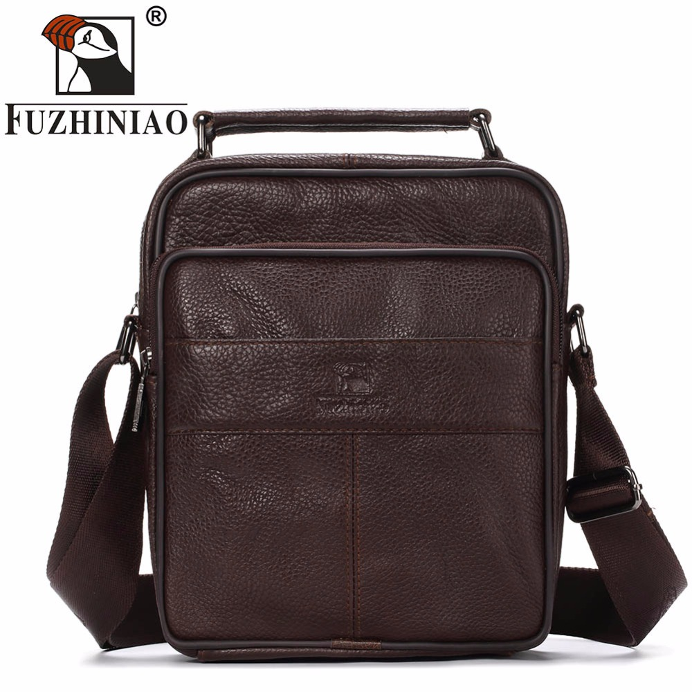FUZHINIAO 2018 New Style Messenger Bags For Men High Quality Genuine Leather Handbags Business Casual Multifunction Shoulder Bag new brand business briefcase handbags shoulder bag leather men crossbody bags for men casual high quality messenger travel bags
