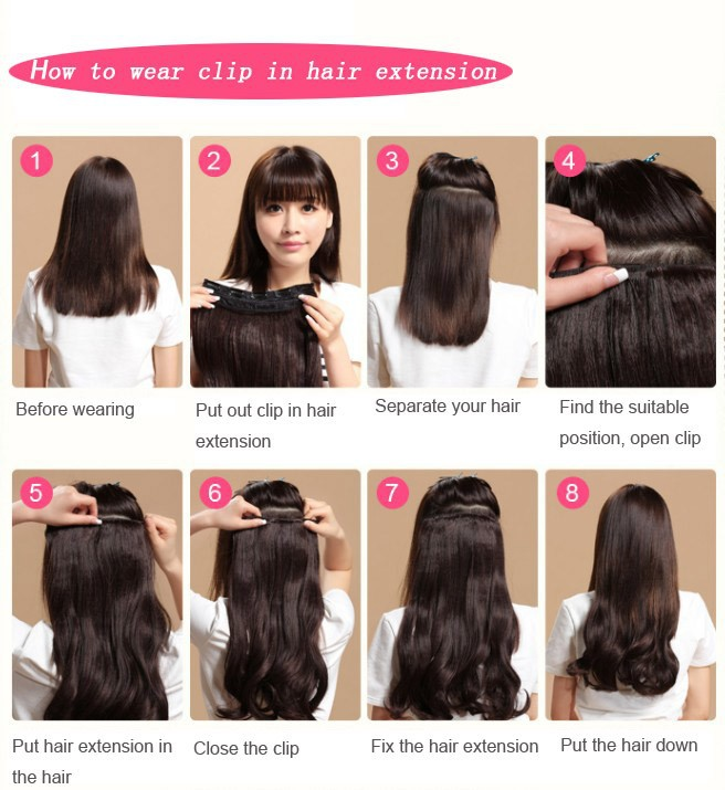 How to use clip in hair extension