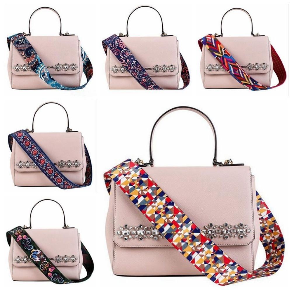 где купить Osmond 5x99CM Bag Straps Colorful Shoulder Belts Replacement Detachable Handbag Strap DIY Long Bag Belts Gold Buckle Accessories по лучшей цене