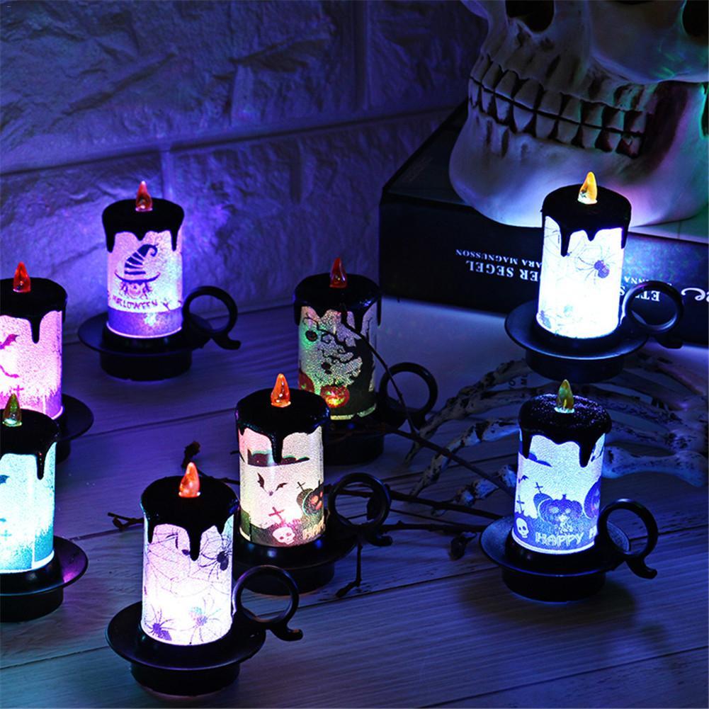 Halloween Decoratie Kopen.Kopen Goedkoop Halloween Decoratie Props Kaars Licht Cup Led Elektronische Desktop Verlichting Accessoires Prijs