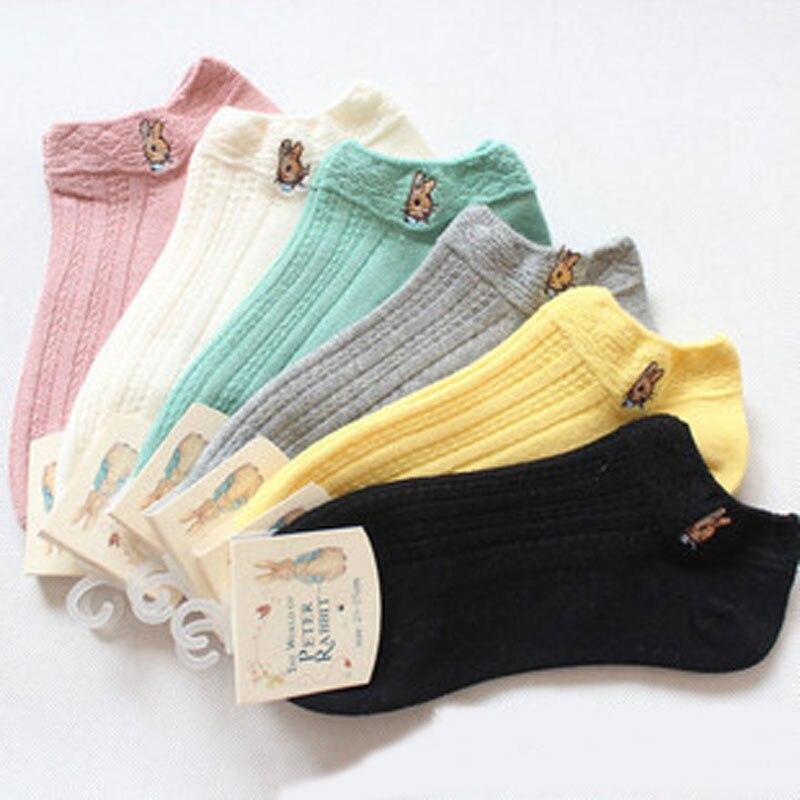 Cartoon Cute Women Ankle   Socks   Art Breathable Funny Thin Summer Short   Socks   Female Kawaii Cotton Animal Patterned   Socks   Hosiery
