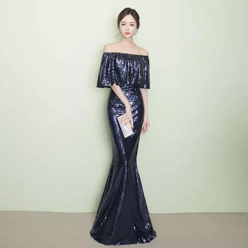 D008 ruffles neck off the shoulder floor length rose gold sequined dresses  IMG 2579 IMG 2501 IMG 2503 ... 5e0acd62fe45